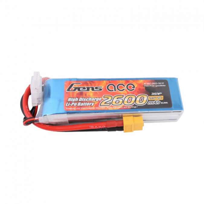 Batéria 2600mAh 11.1V 25C Gens Ace XT60