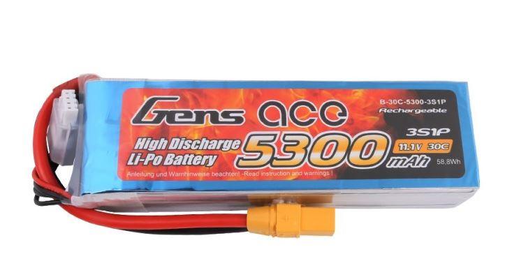 Batéria Gens Ace TATTU: 5300mAh 11.1V 30C XT90