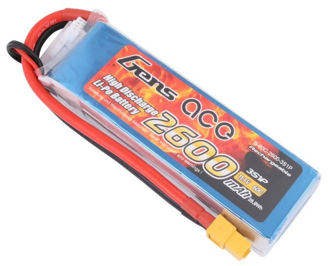 Batéria na RC modely Gens Ace TATTU: 2600mAh 11.1V 60C XT60
