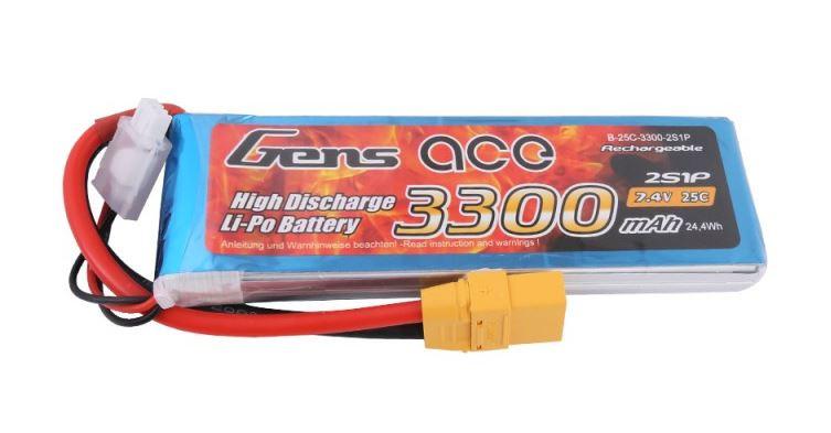 RC akumulátor Gens Ace TATTU: 3300mAh 7.4V 25C XT90