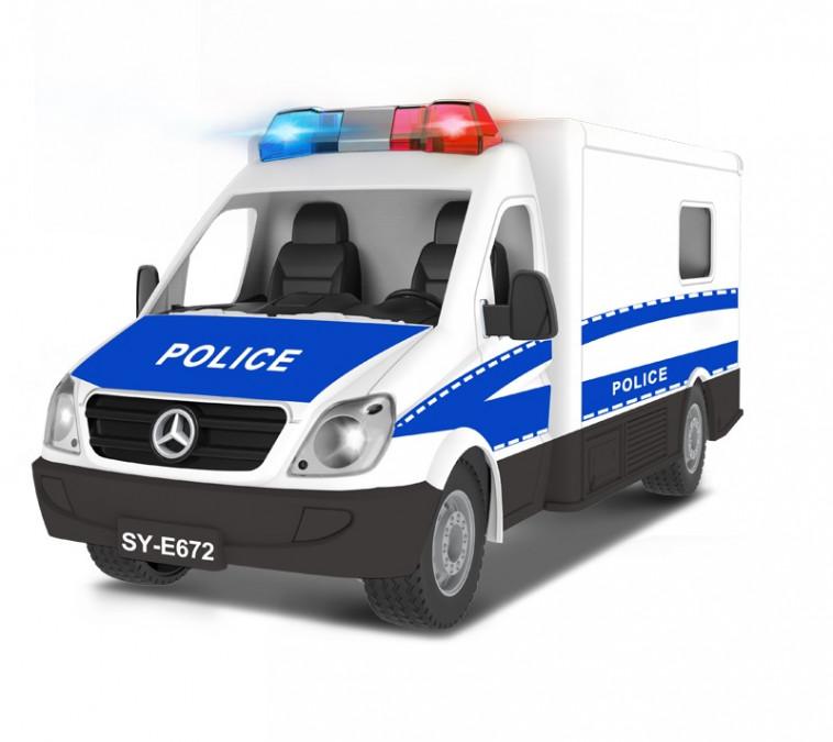 Policajné auto na ovládanie DE 1:18, 2.4GHz, RTR