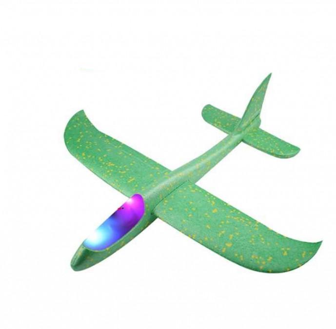 Klzák s LED diódami s dvoma režimami lietania - zelený