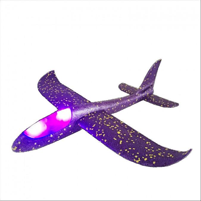 Klzák s LED diódami s dvoma režimami lietania  - fialové