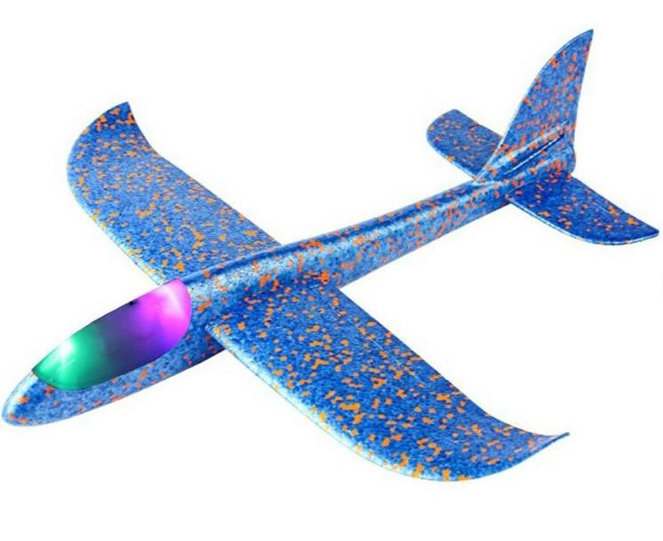Klzák s LED diódami s dvoma režimami lietania - modrý