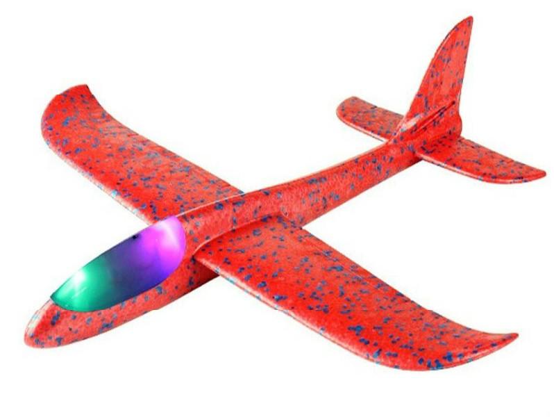 Klzák s LED diódami s dvoma režimami lietania - červený