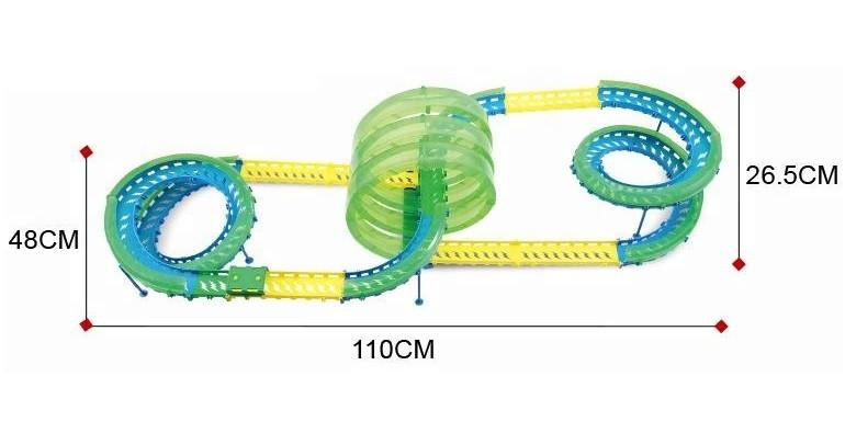 WL / XK: Pískacie auto - 375 cm, 3 slučky, most