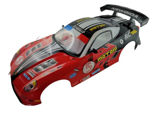 Karoséria pre NQD 4WD Super Drift 1:10 - červená