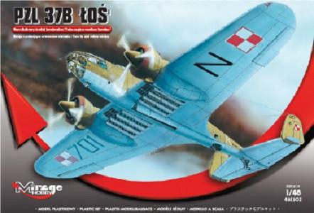 """Model set s farbami MIRAGE: PZL.37B """"Łoś"""" Dvojmotorový stredný bombardér"""