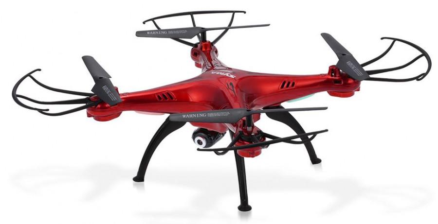RC dron Syma X5SC EXPLORERS 2 s HD 720p kamerou, 2,4GHz červená