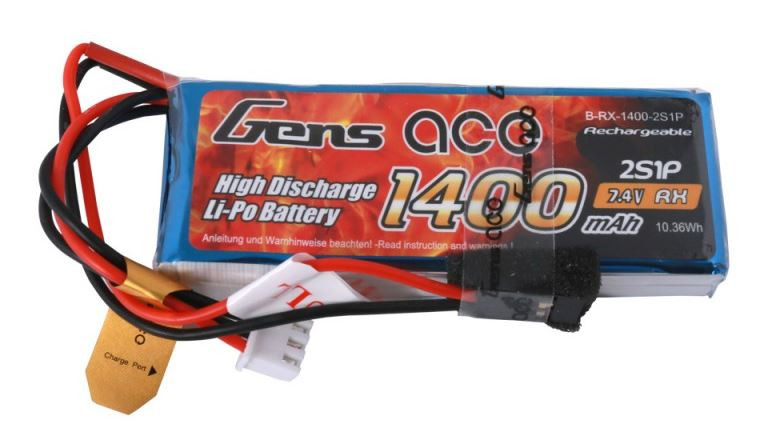 Batéria Gens Ace & TATTU: 1400mAh 7.4V Transmitter Pack