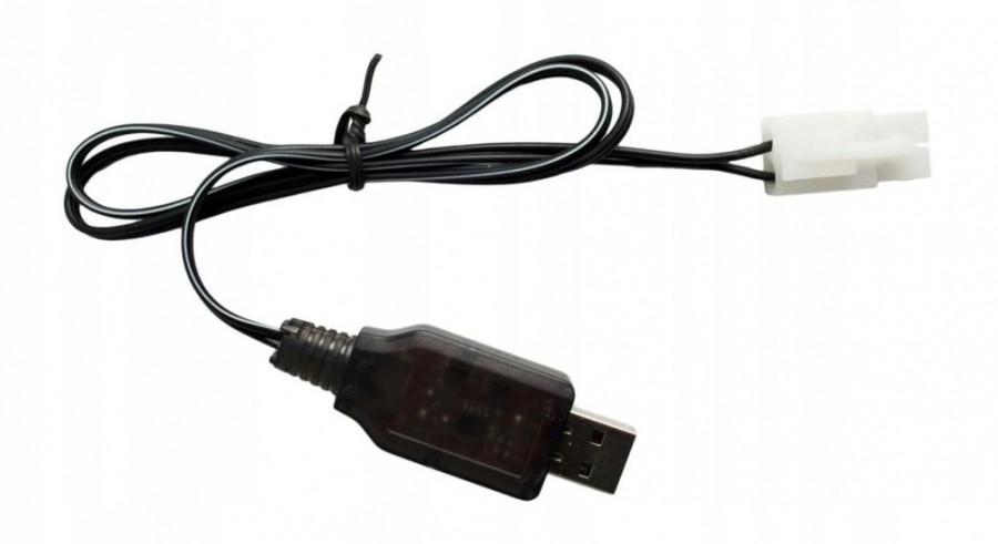 Nabíjačka USB NiCd / NiMh 9.6V 250mA Tamiya