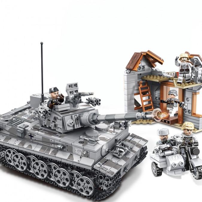 Tank Tiger I  - stavebnica (1154 dielov)