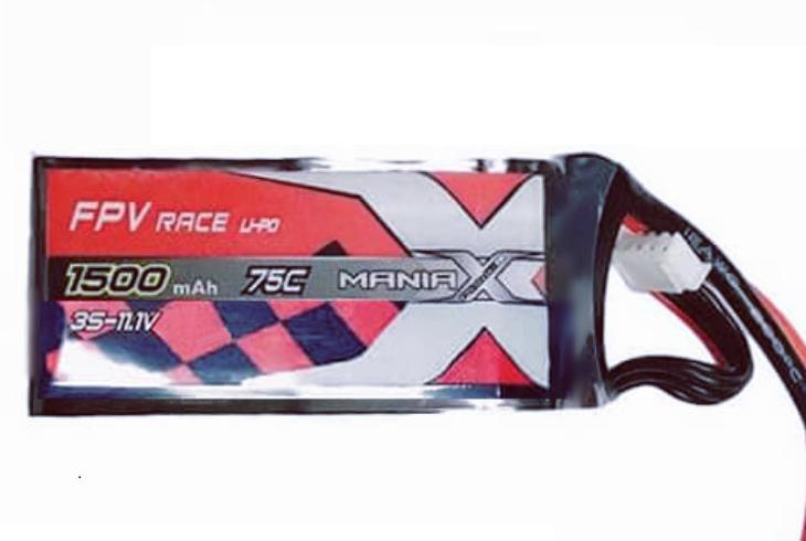 Batéria LIPO 1500mAh 14.8V 75C Racing ManiaX