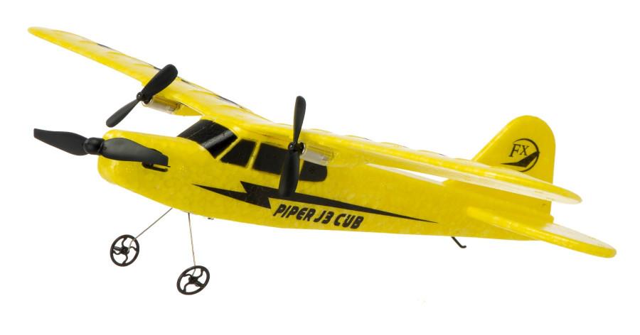 Lietadlo na ovládanie Piper J-3 CUB 2,4 GHz RTF 34 cm - žlté