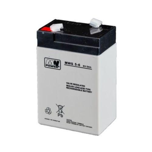 Gélová batéria MN POWER Pb 6V 5Ah bezudržbová 50A