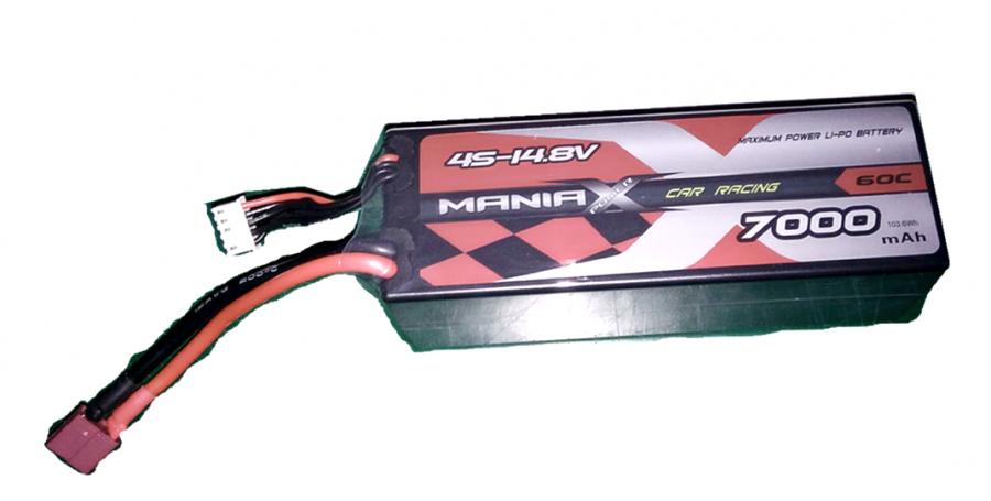 LiPo Batéria 7000mAh 14.8V 60C HardCase ManiaX