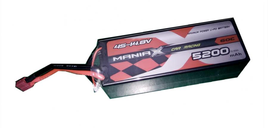 LiPo Batéria 5200mAh 14.8V 60C HardCase ManiaX