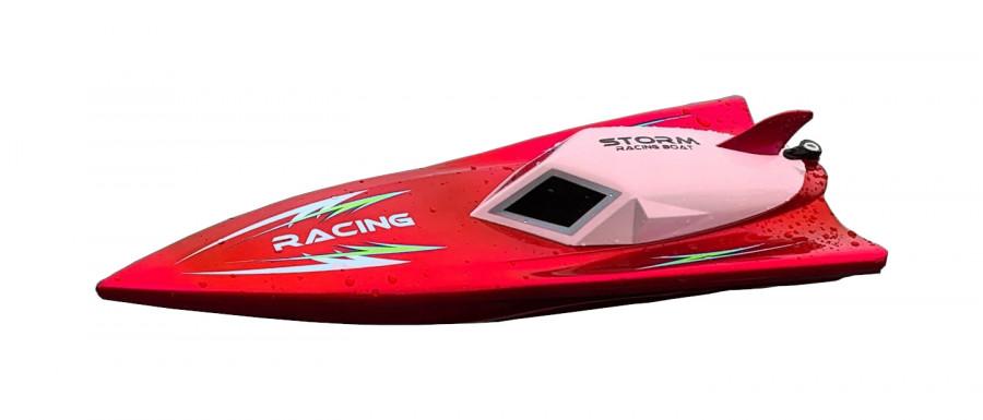 NQD motorový čln na diaľkové ovládanie Storm Racing 2,4GHz 30 km/h RTR - červený
