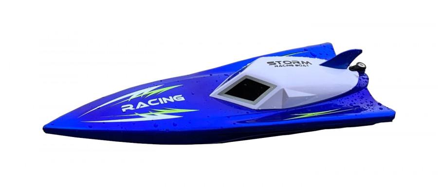 NQD: Storm Racing 2,4 GHz 30 km/h RTR motorový čln na ovládanie - modrý