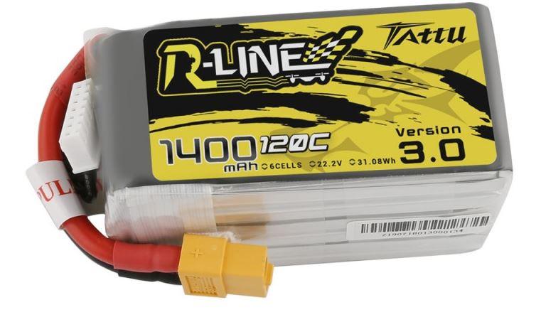 Batéria 1400mAh 22.2V 120C TATTU R-Line Gens Ace