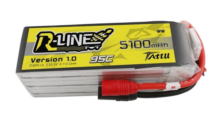 Batéria Li-Po 5100mAh 22.2V 95C TATTU R-Line Gens Ace