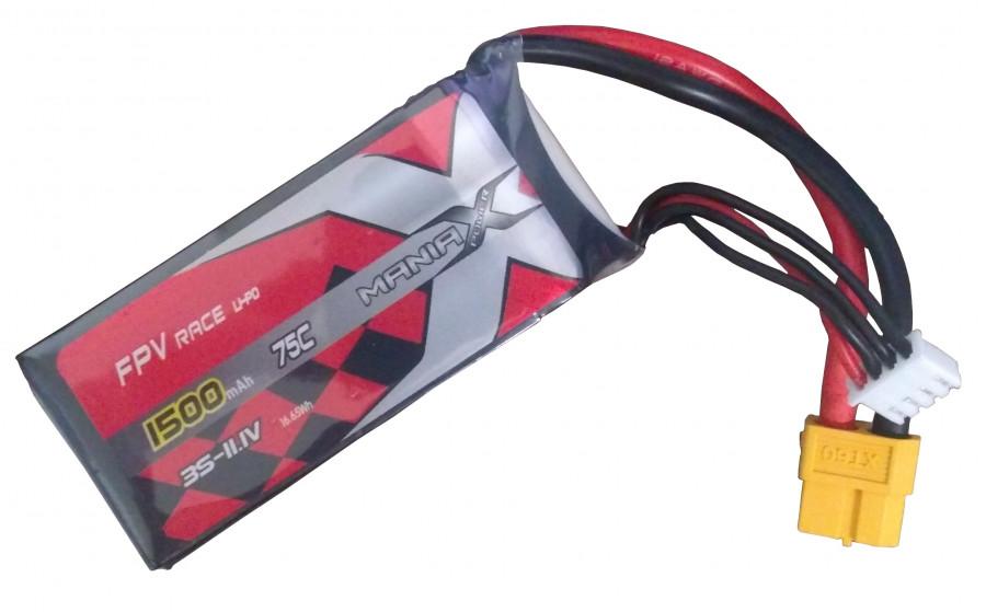 Batéria LI-PO 1500mAh 11.1V 75C Racing ManiaX