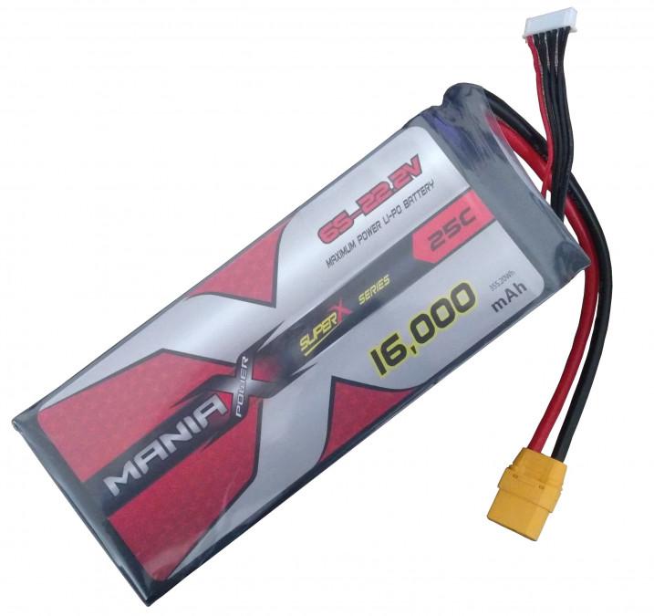 LiPo Batéria 16000mAh 22.2V 25C Multi-Rotor ManiaX