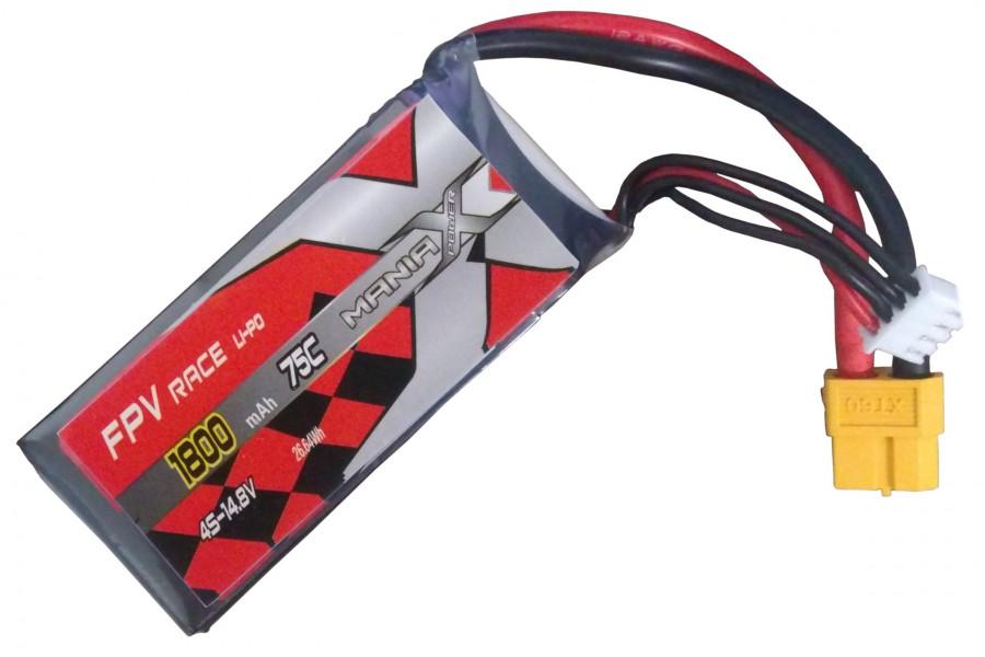 Batéria LIPO 1800mAh 14.8V 75C Racing ManiaX