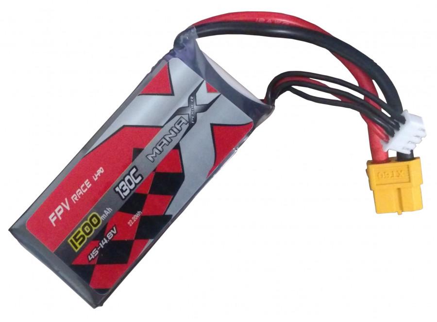 Batéria LIPO 1500mAh 14.8V 130C Racing ManiaX