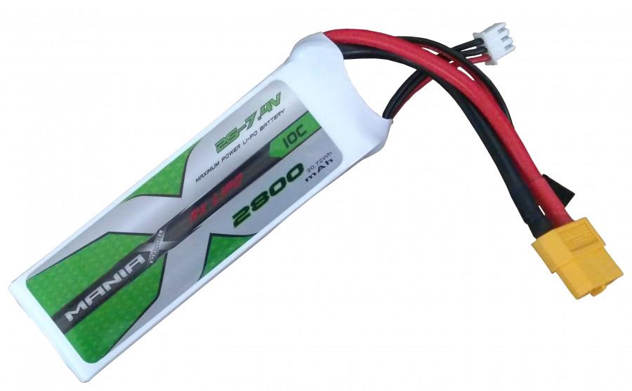 Batéria ManiaX: 2800 mAh 7,4 V 30 C ManiaX - transceiver