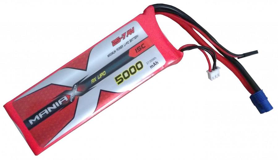 LiPo Batéria 5000mAh 7.4V 20C ManiaX - RX/TX