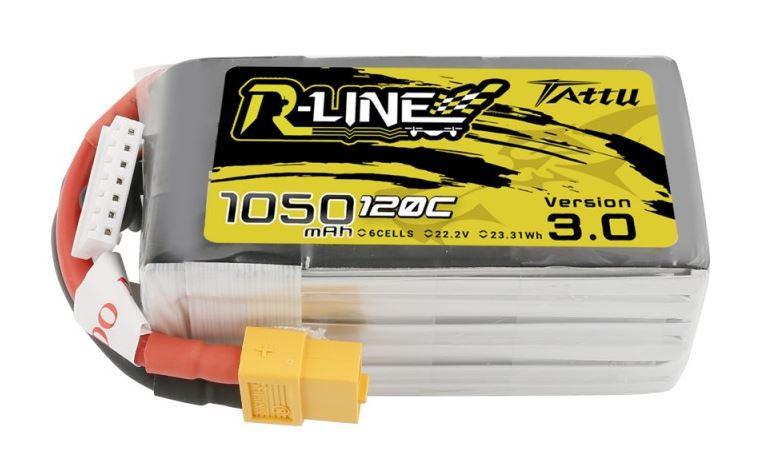 Batéria Lipo 1050mAh 22.2V 120C TATTU R-Line Gens Ace