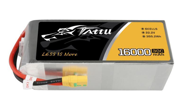 Batéria Li-Po 16000mAh 22.2V 30C XT90 TATTU