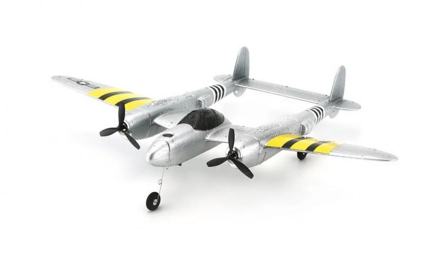 RC lietadlo na ovládanie TPC P-38 Lightning 2,4 GHz RTF - strieborné