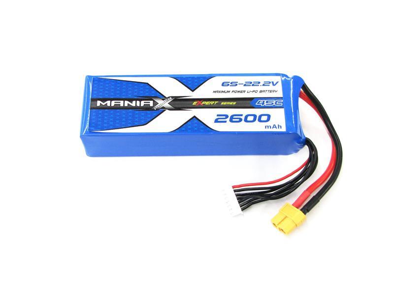 LiPo Batéria 2600mAh 22.2V 45C eXpert ManiaX