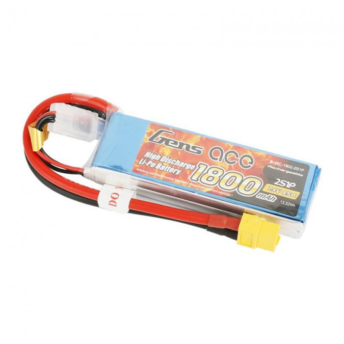 Batéria Lipo 1800mAh 7.4V 45C XT60 Gens Ace