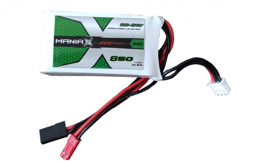 Lipo batéria 850mAh 7.4V 30C ManiaX