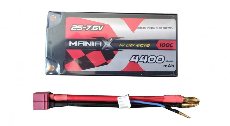 Lipo batéria 4400mAh 7.6V 100C HardCase ManiaX