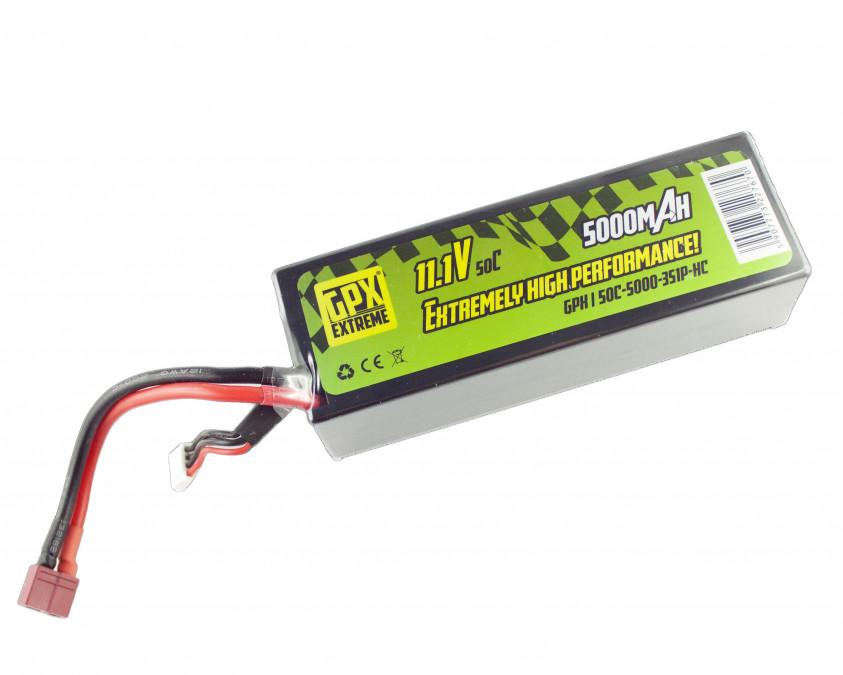Batéria LiPo GPX Extreme 5000mAh 11.1V 50C