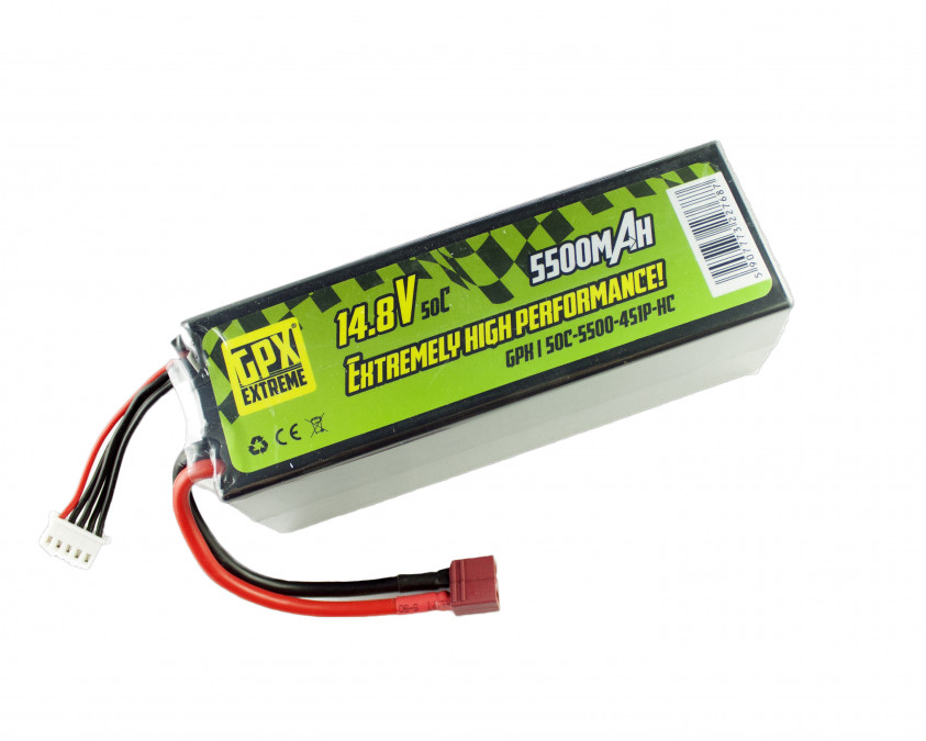 Batéria LiPo GPX Extreme 5500mAh 14.8V 50C