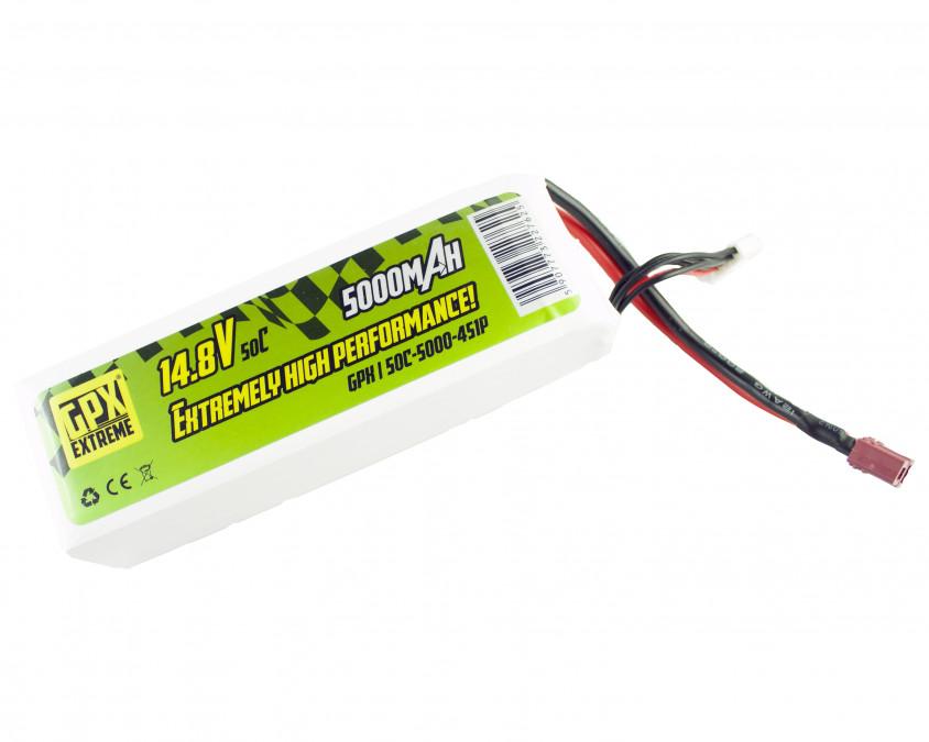 Batéria LiPo GPX Extreme 5000mAh 14.8V 50C