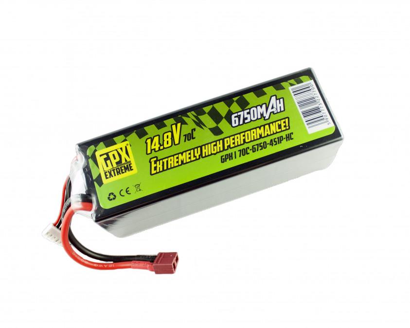 Batéria LiPo GPX Extreme 6750mAh 14.8V 70C