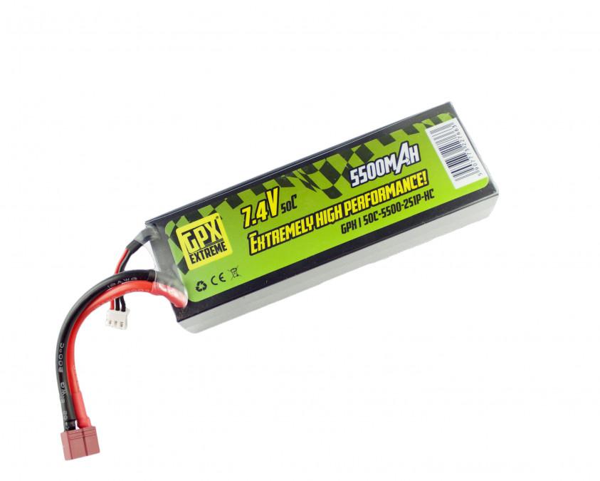 Batéria LiPo GPX Extreme 5500mAh 7.4V 50C