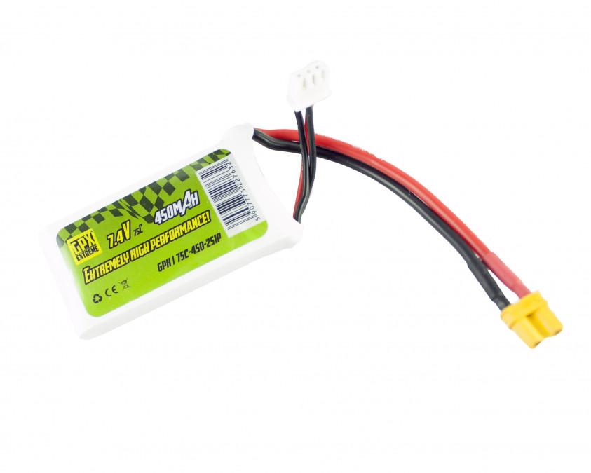 Batéria LiPo GPX Extreme: 450mAh 7.4V 75C