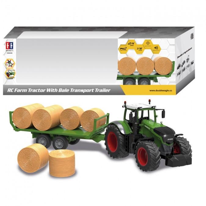 Double Eagle RC Poľnohospodársky traktor s vlečkou 1:10 2,4 GHz