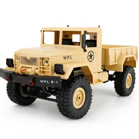 RC Vojenský nákladný automobil Army Truck WPL B-14, 4x4, 2.4GHz - žltá