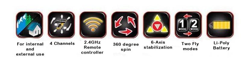 Syma X8W (FPV 0 3MP Camera, 2 4GHz, range up to do 50m) - Black