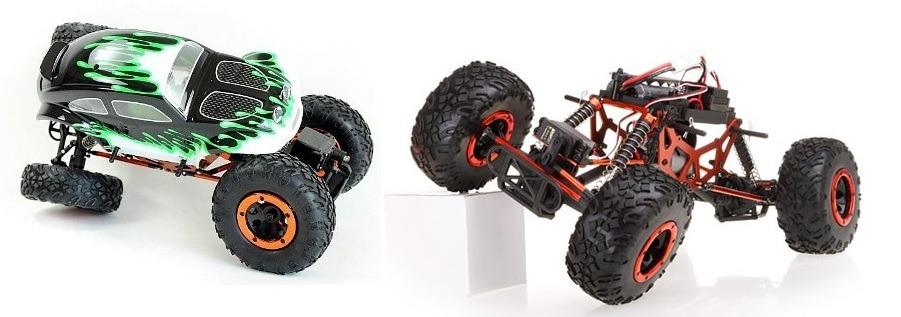 Po lewej Kulak Crawler, po prawej Pangolin Crawler bez karoserii