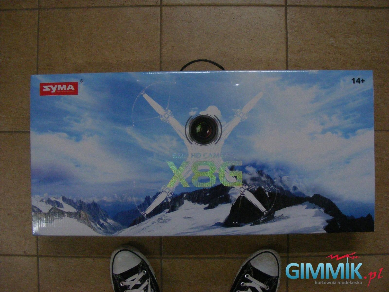 front pudełka drona x8g